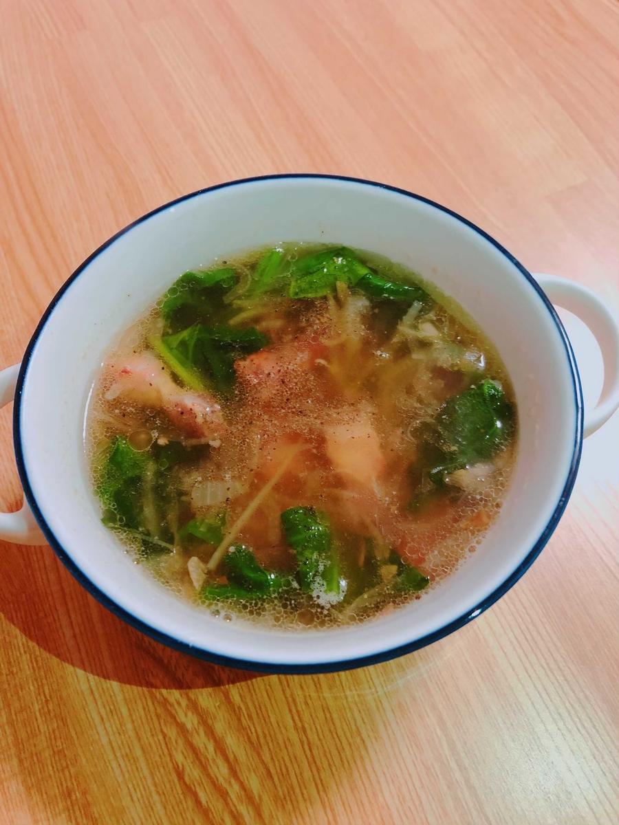 パンチェッタでスープ