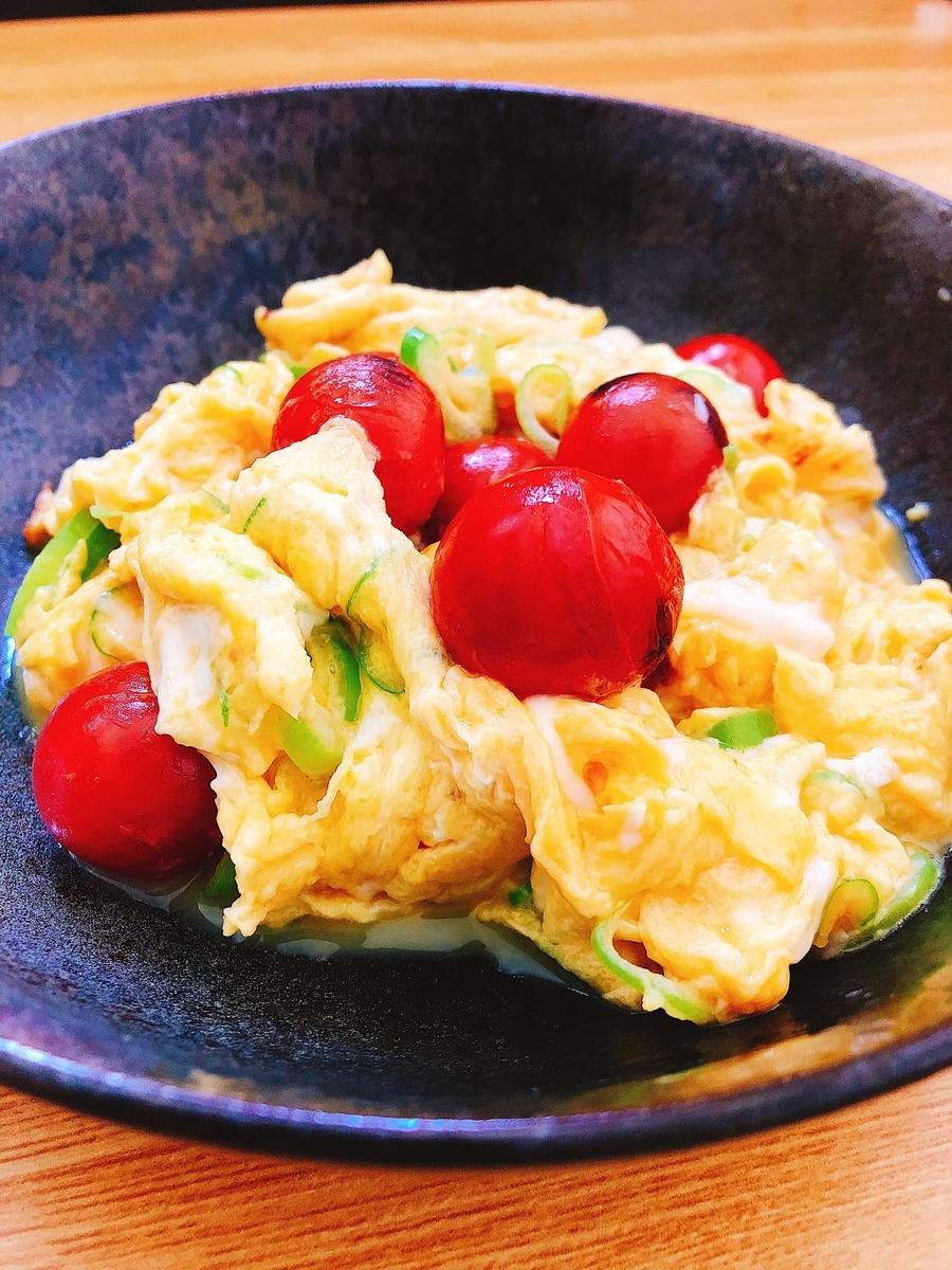 ミニトマトと卵の炒め物
