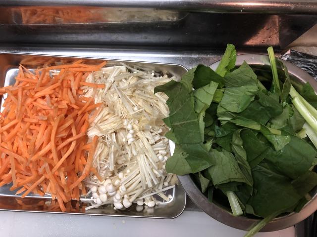 ビビンバの野菜