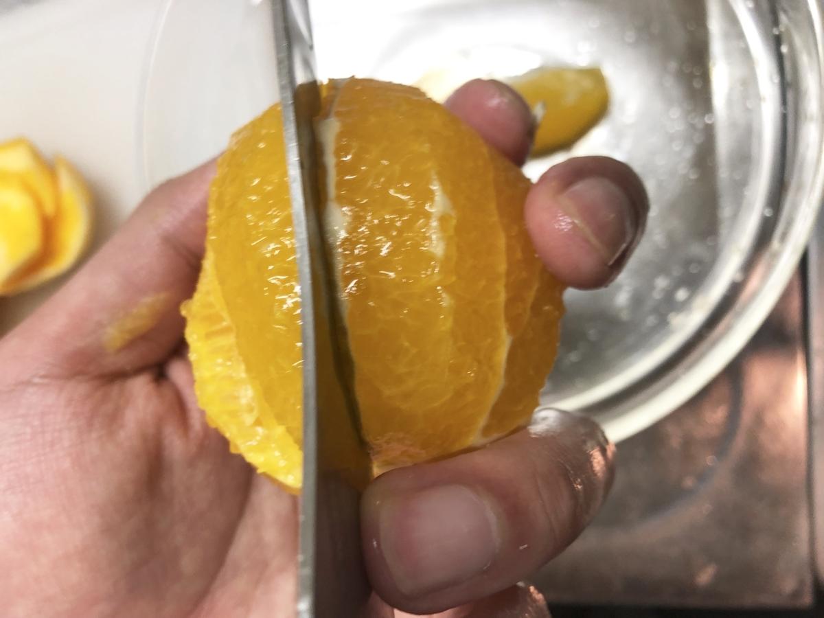 オレンジを房に分ける
