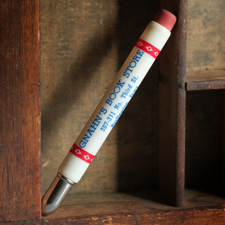 USAアメリカヴィンテージバレットペンシル|弾丸型アドバタイジング鉛筆GNAHN'S BOOK STORE [OFC-18-002]