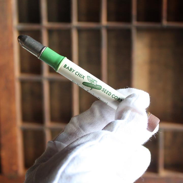 USAアメリカヴィンテージバレットペンシル|弾丸型アドバタイジング鉛筆BABY CHIX SEED CORN