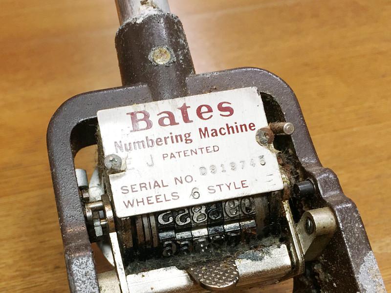 Bates社製ナンバリングスタンプ|シリアルナンバープレートアンティーク雑貨