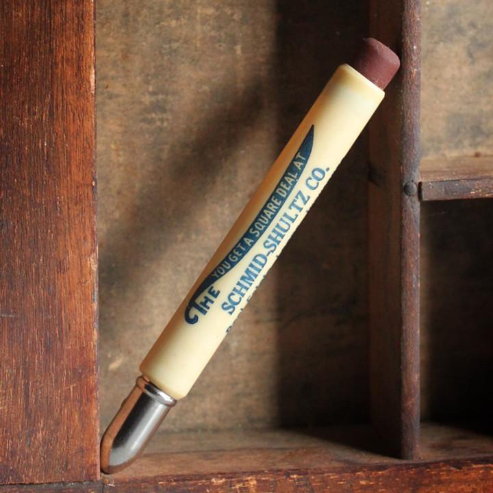 USAアメリカヴィンテージバレットペンシル 弾丸型アドバタイジング鉛筆SCHMID-SHULTZ CO. [OFC-18-007]
