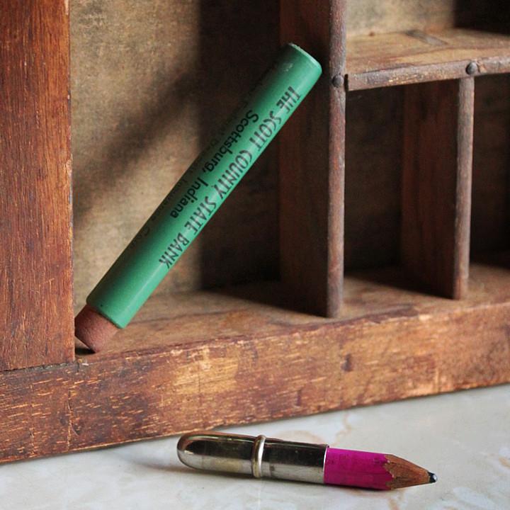 アンティーク雑貨ノベルティグッズ|バレットペンシル弾丸鉛筆アドバタイジング広告企業もの