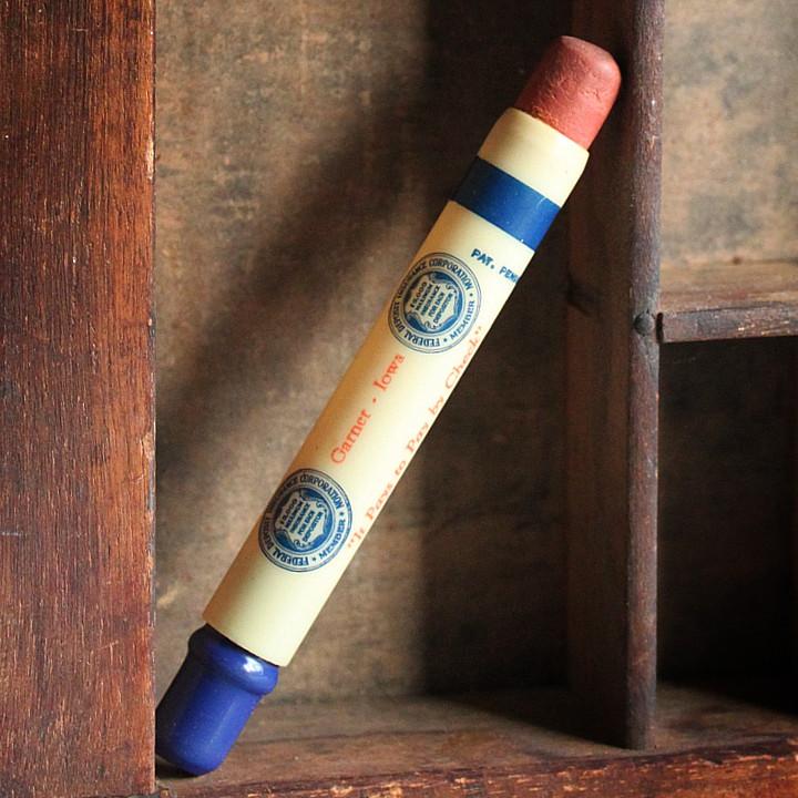 USAアメリカヴィンテージバレットペンシル|弾丸型アドバタイジング鉛筆HANCOCK COUNTY NATIONAL BANK [OFC-18-011]