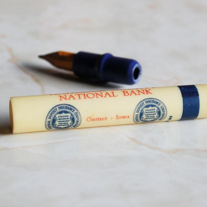 ハンコック郡国営銀行バレットペンシル|ノベルティ弾丸型鉛筆アドバタイジング