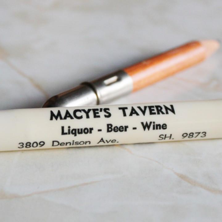 バレットペンシル弾丸型鉛筆|オハイオ州クリーブランドMACYE'S TAVERN・Liquor Beer Wine