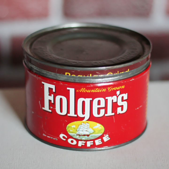USAヴィンテージティン缶アドバタイジング|コーヒー珈琲Folger's COFFEE1948 [OTH-19-003]