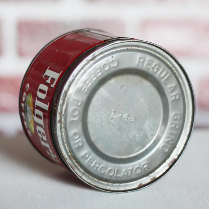 1948年の文字がエンボスで記されたティン缶の蓋|アンティーク雑貨・ヴィンテージアドバタイジング缶