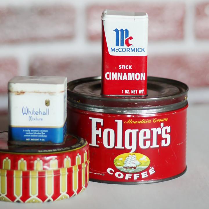 USAヴィンテージティン缶アドバタイジング|コーヒー珈琲Folger's COFFEE1948・アンティーク雑貨