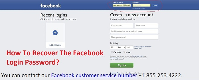 How To Recover The Facebook Login Password