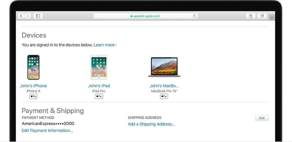Apple デバイスリスト