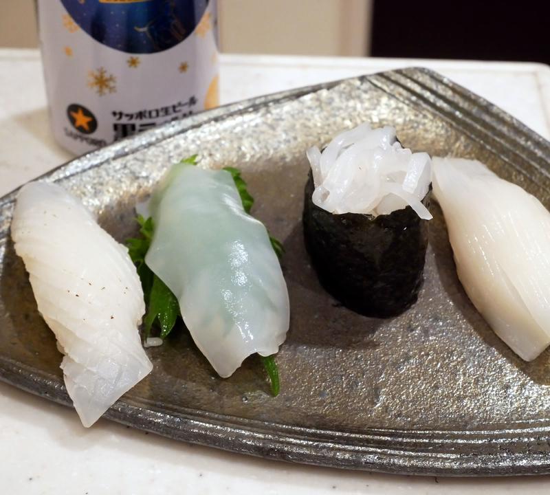 イカのにぎり寿司