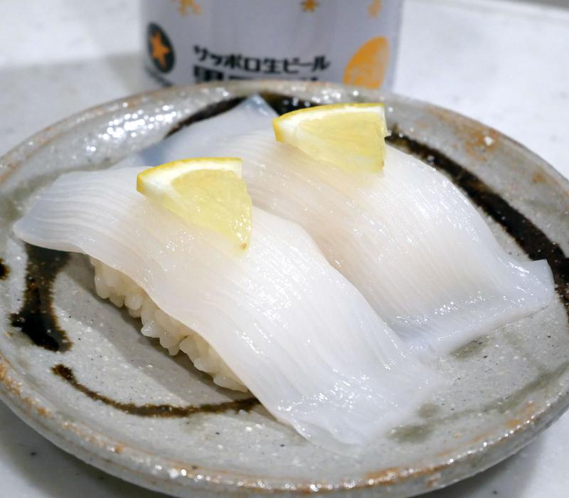 ヤリイカのにぎり寿司