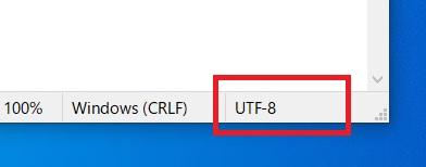 メモ帳の文字コードがUTF8