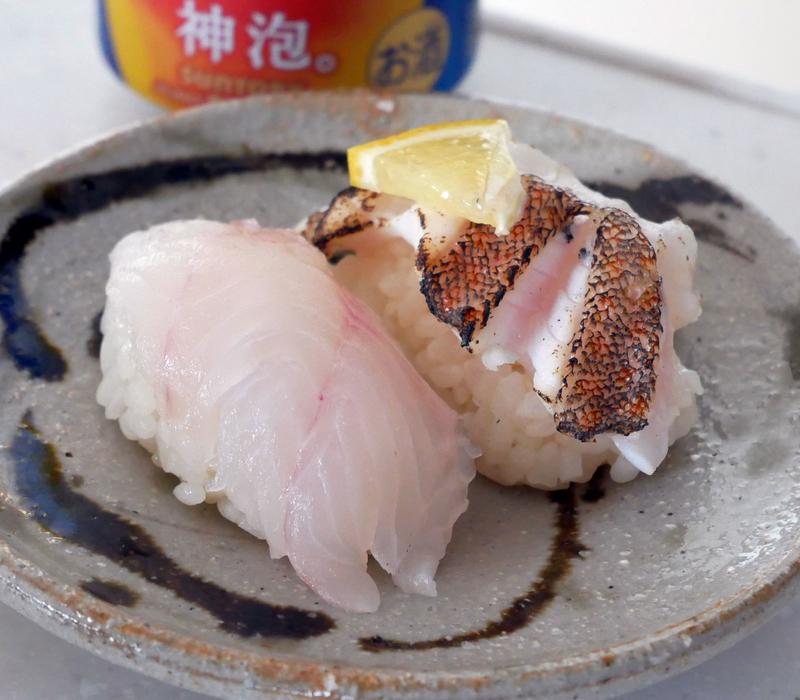 キジハタのにぎり寿司