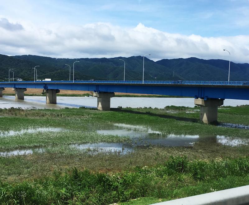 令和2年の大雨で揖斐川も増水していました
