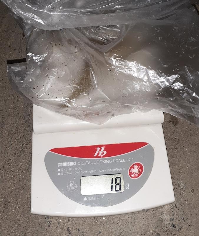 釣ったテナガエビの重量対決