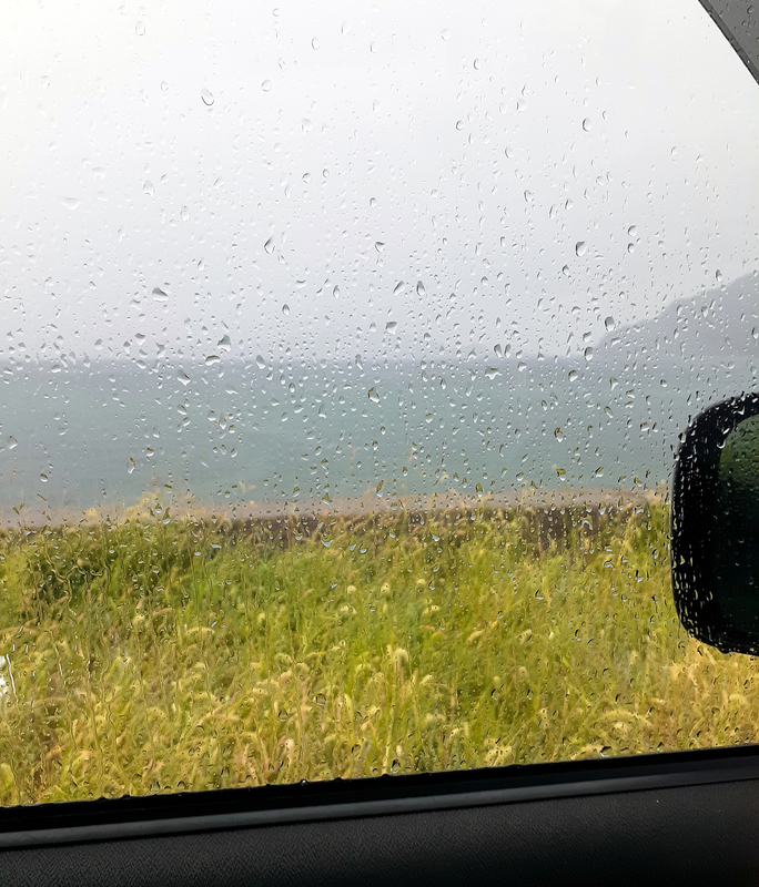 ゲリラ豪雨に遭遇