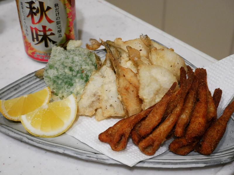 釣ったハゼを天ぷらや唐揚げで食べる