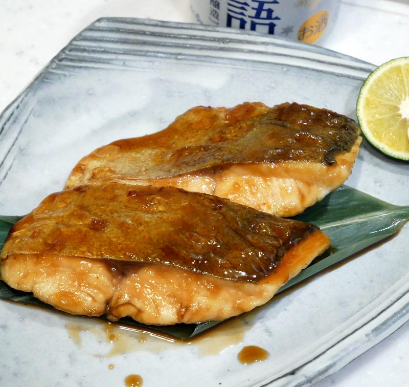 カンパチの幼魚(シオ)の照り焼き