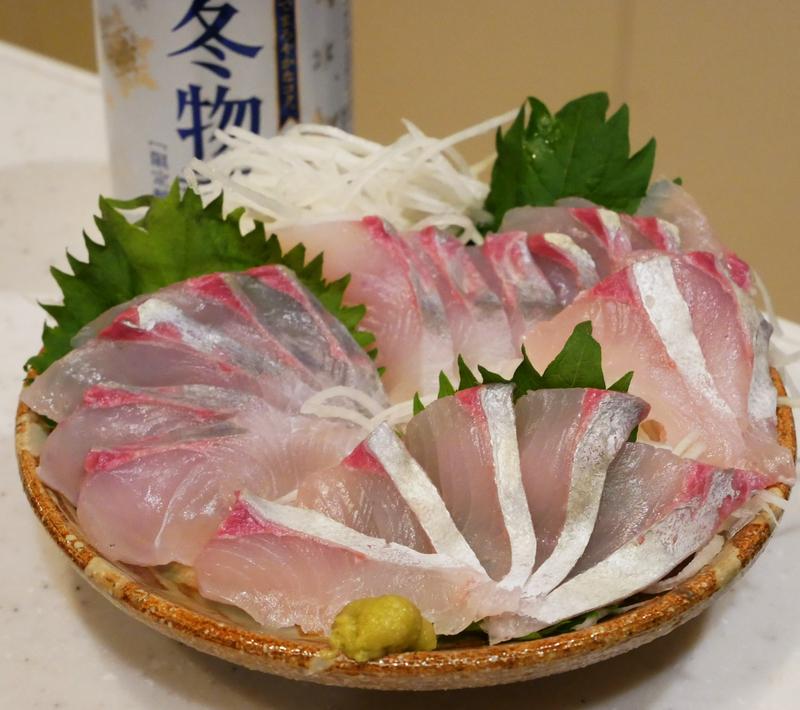 カンパチの幼魚(シオ)の刺身