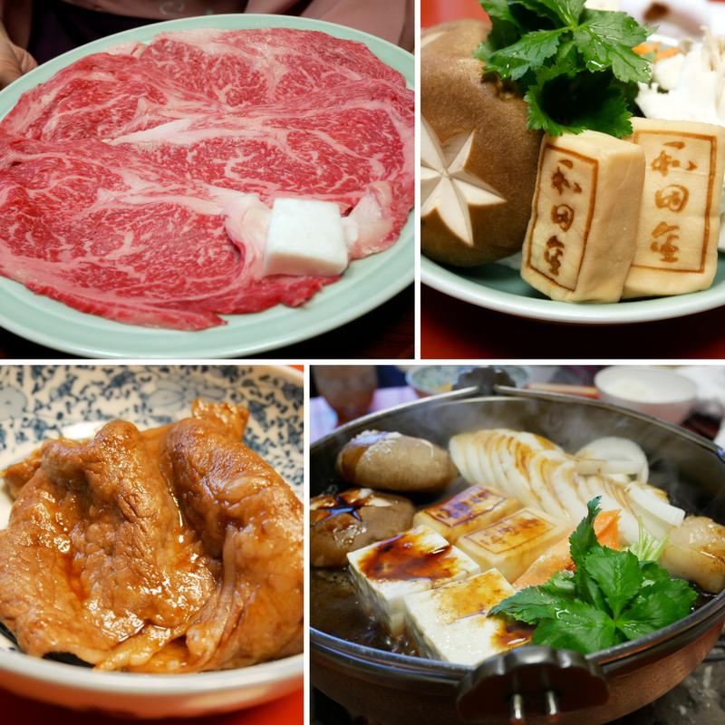 和田金のすき焼きコース