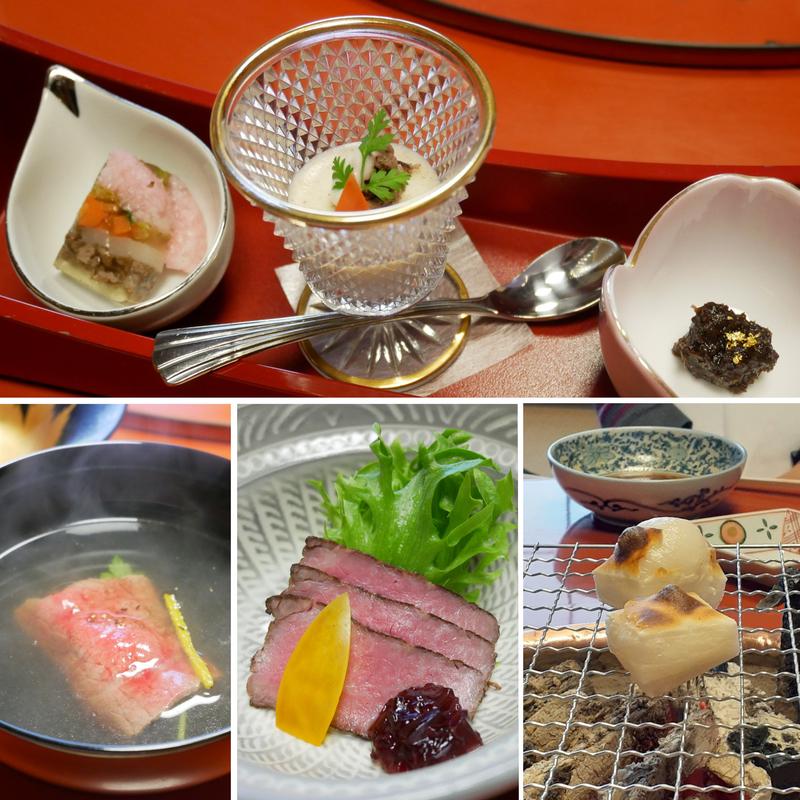 寿き焼きコースの前菜