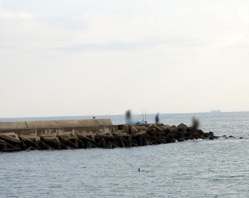 白子漁港のテトラで釣り