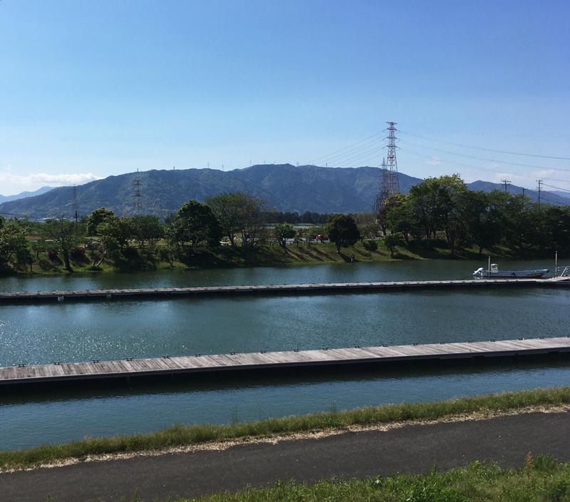 船頭平閘門のブラックバス釣りの風景