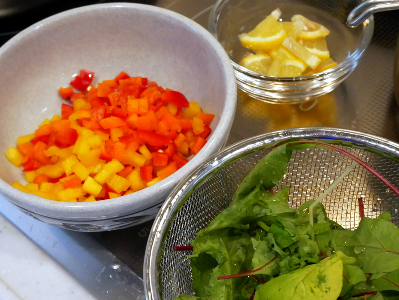 キジハタのポワレの添え野菜