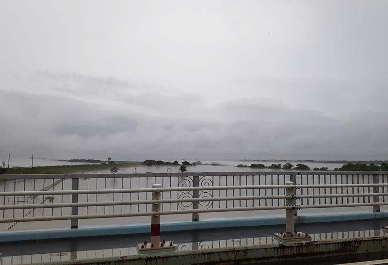 木曽川の立田大橋より上流