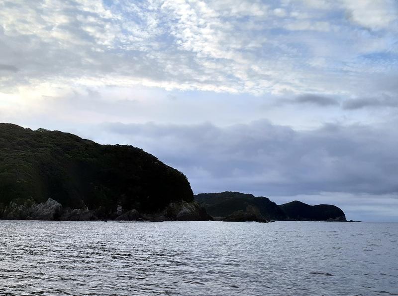 五ケ所湾沖で釣り