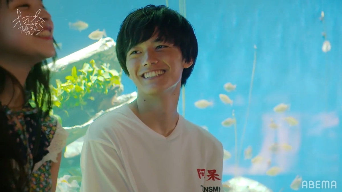 ゆらの言葉に笑顔を見せるカイト(C)ABEMA,Inc.
