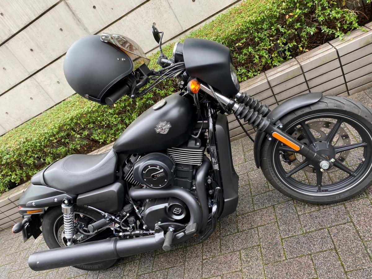 キャプテン・アメリカと同じモデルのバイク(本人提供)