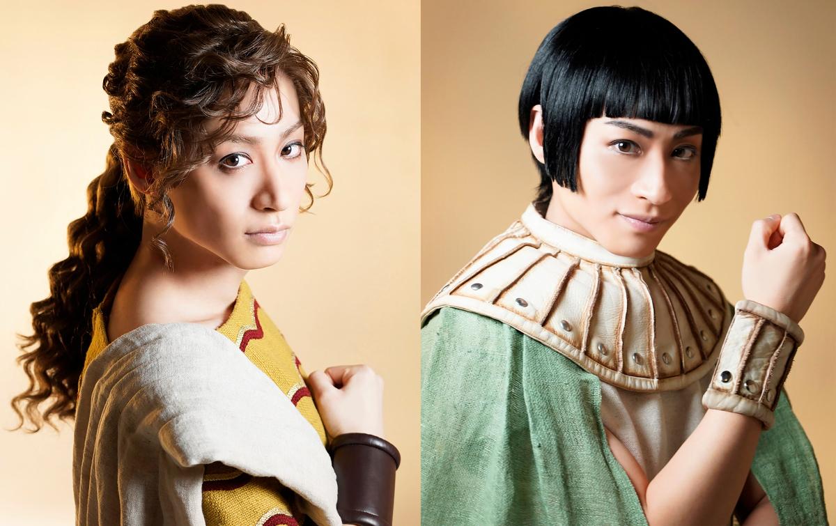 前山さんが演じる(左から)ルカ、ウナス