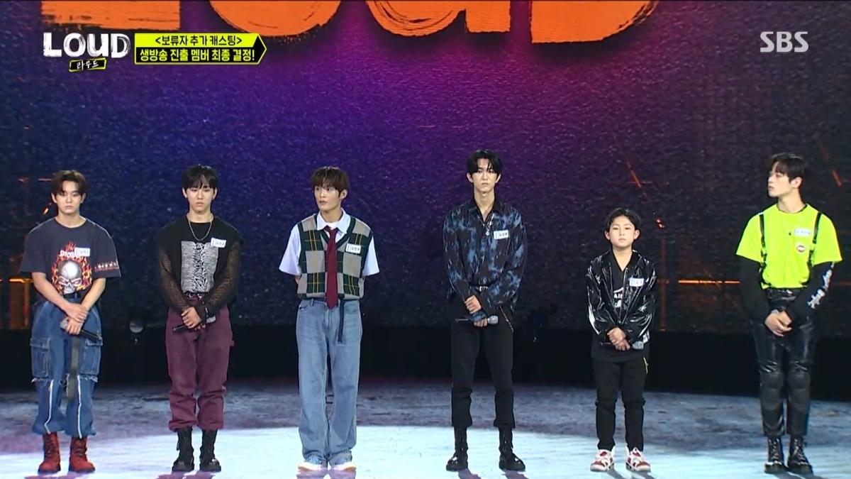 脱落候補者(左から)ヒョンス、ミンソン、ヒョヌ、ギョンムン、コウキ、スジェ