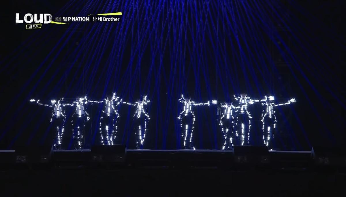 LEDを使ったパフォーマンスを披露したTeam P NATION