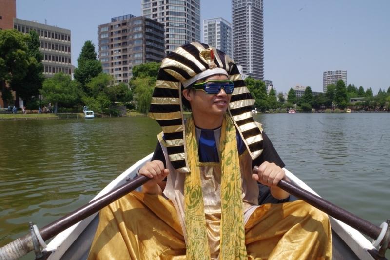 彼氏とボートなう
