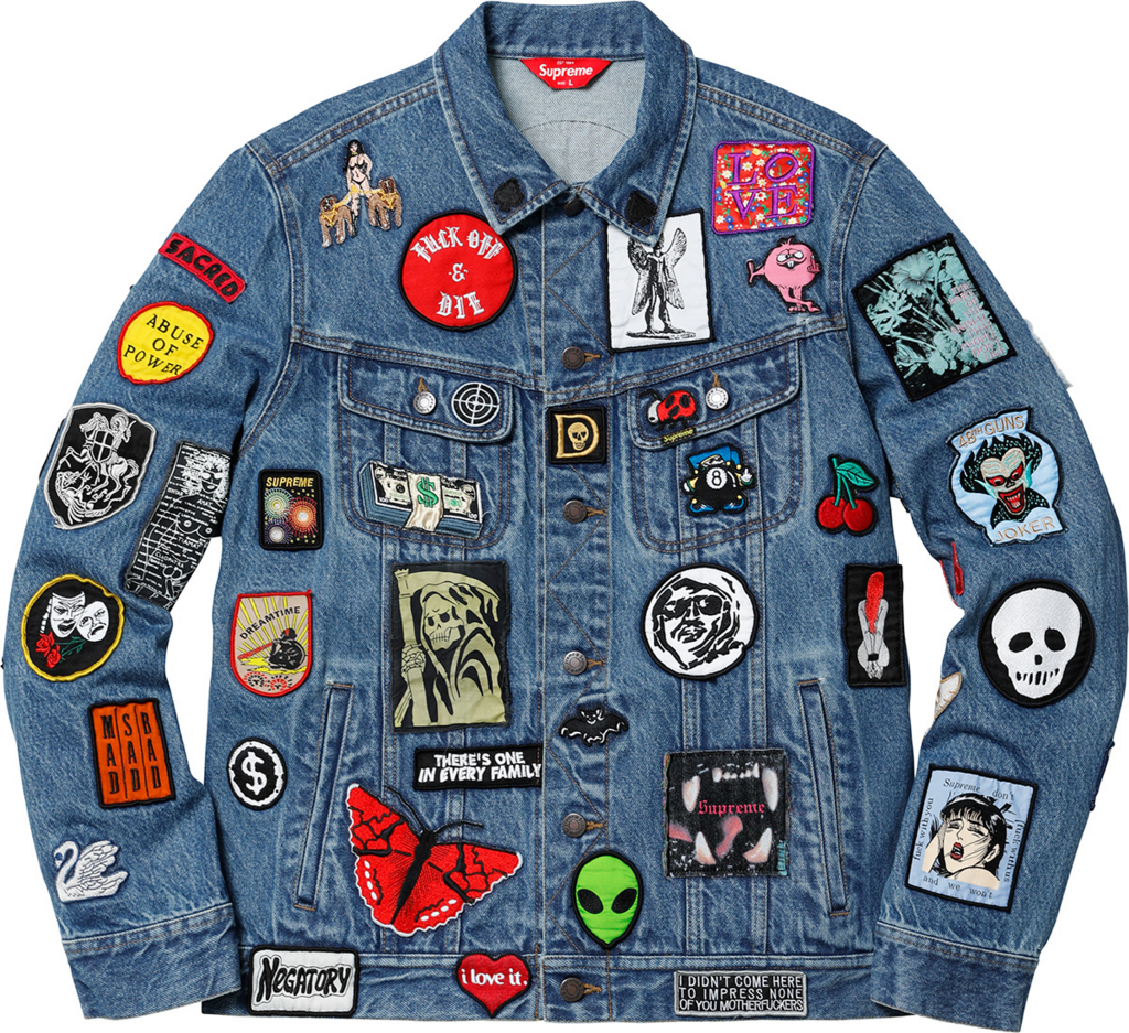 supreme Patches Denim Trucker Jacket デニムジャケット