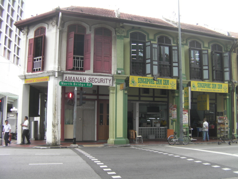 シンガポール・ザム・ザム 店 外観
