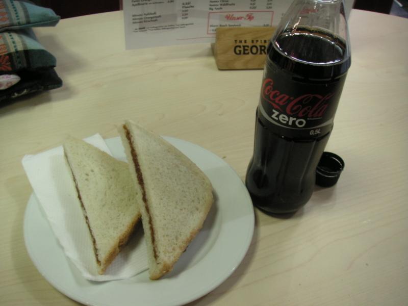 ドイツで食べたピーナッツバターのサンドイッチ