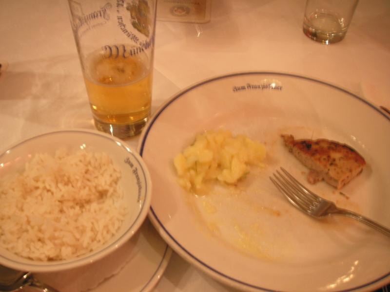 ドイツで食べた白ビール ハム ジャーマンポテト