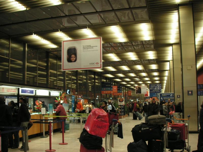 オルリー空港のチェックイン・カウンター