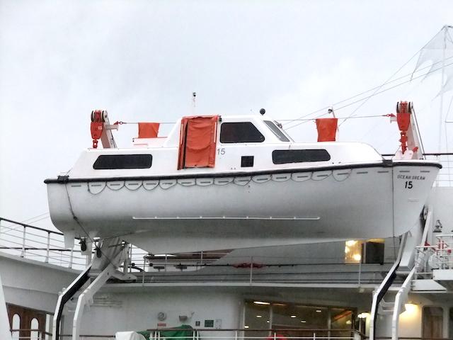 ピースボートオーシャンドリーム救命ボート