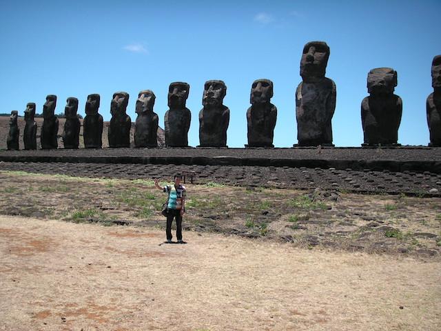 イースター島 世界遺産モアイ像
