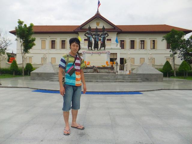 チェンマイ 3人の王様の銅像