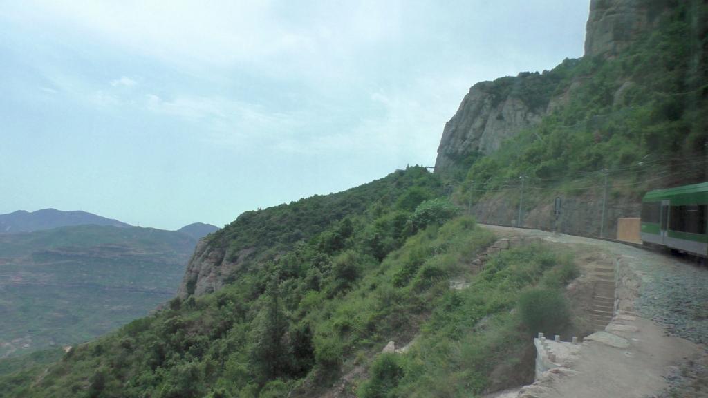 スペイン モンセラット 登山鉄道