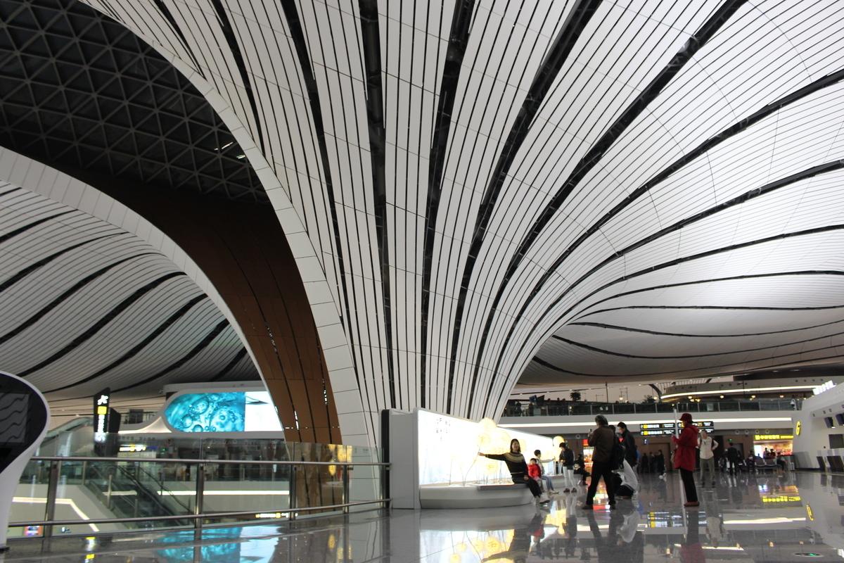 ザハ・ハディド氏がデザインした北京大興国際空港
